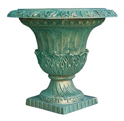 Amazon Biscottini Cast Iron Made Antiqued Green Bronzed Vase