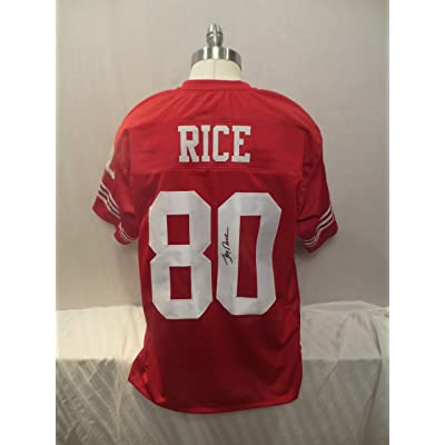 reputable site a667e 6670e Jerry Rice Signed San Francisco 49ers Red Autographed Jersey ...