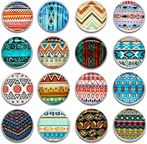 Cosylove 16pcs Bohemia Pattern Refrigerator Magnets, Crystal Glass Fridge Magnets for Cabinets, Whiteboards, Photos,Lockers Or Refrigerator Door. Beautiful Decor Magnets For Home&Office. (Bohemia)