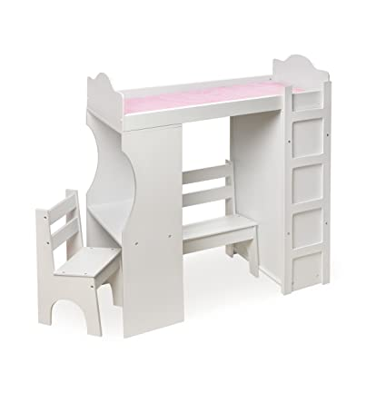 Charmant Badger Basket Loft Doll Bed With Desk Chair Bench Armoire And 3 Hangers    Pink/