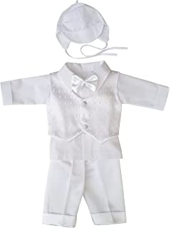 Taufanzug Festanzug Babyanzug Anzug Jungen Baby Taufe SET weiß hellblau blau