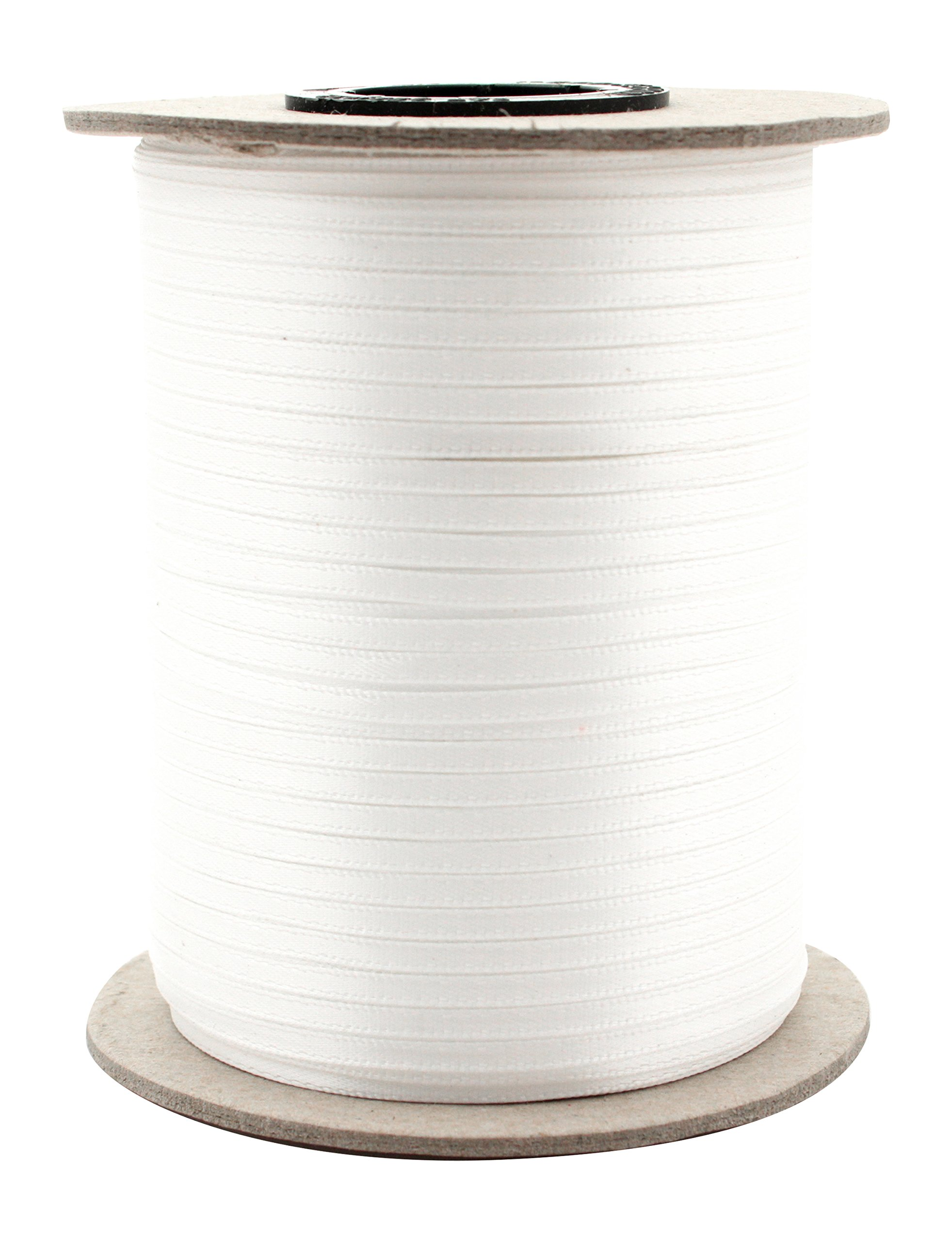 Berwick Offray 1/8'' Wide Double Face Satin Ribbon, White, 500 Yds