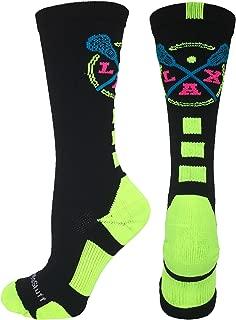 product image for MadSportsStuff LAX Lacrosse Socks with Lacrosse Sticks Athletic Crew Socks (Multiple Colors)