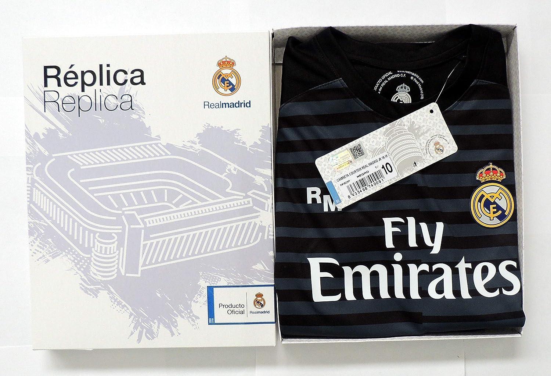 T-Shirt und Hose Set torwarttrikots schwarz von Real Madrid 2018-2019 R/ücker 25 COURTOIS Offizielle Replik Lizenziert