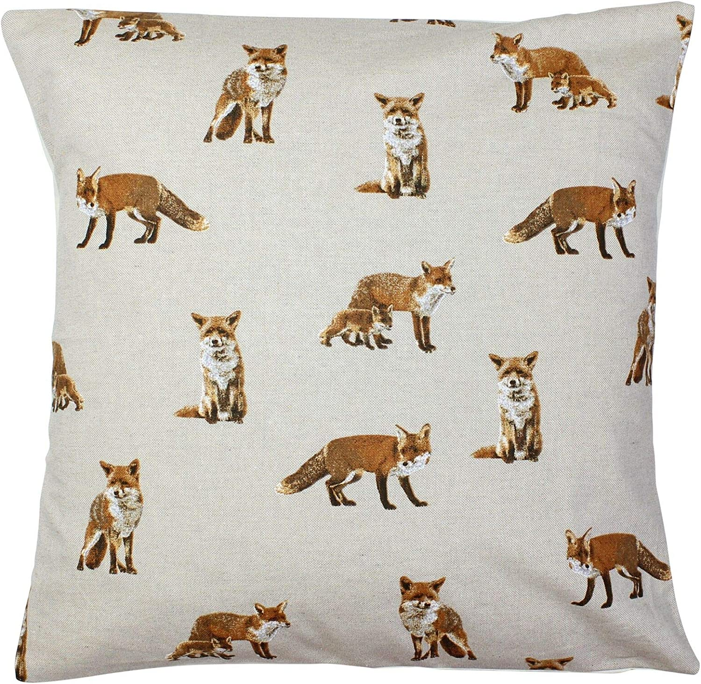 Fox /& Fox Cub Cushion Cover