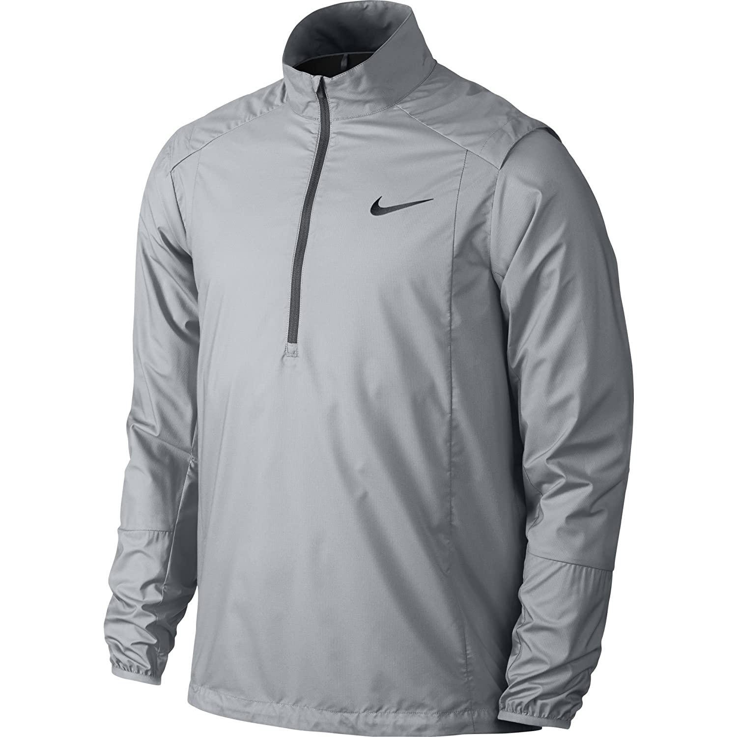 263 Men Nike Hyperadapt Shield Lite Half-Zip Wolf Grey Clothes