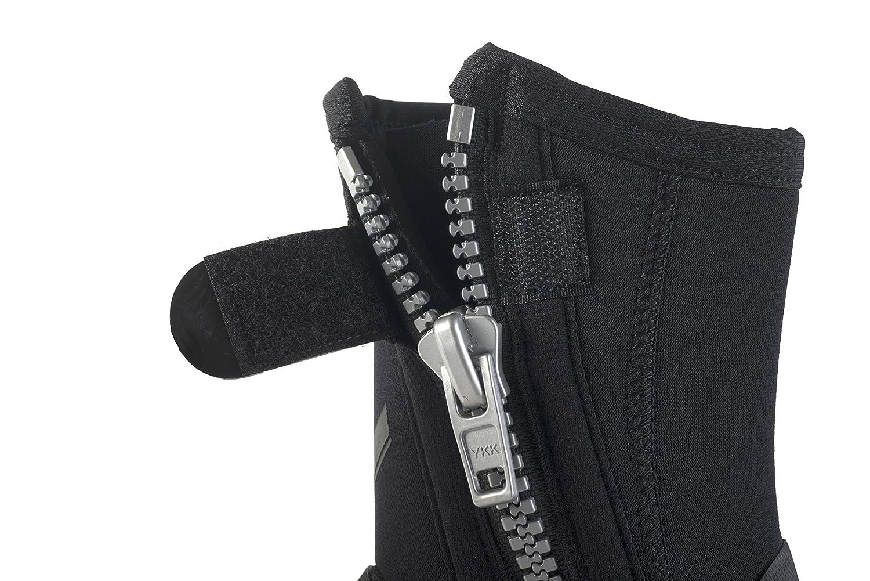 Id/éal avec Palmes R/églables /à Usage Intensif Semelle Rigide Seac Bottillon de Plong/ée avec Zip Pro Hd en 6 mm Protection et Comfort du Pied