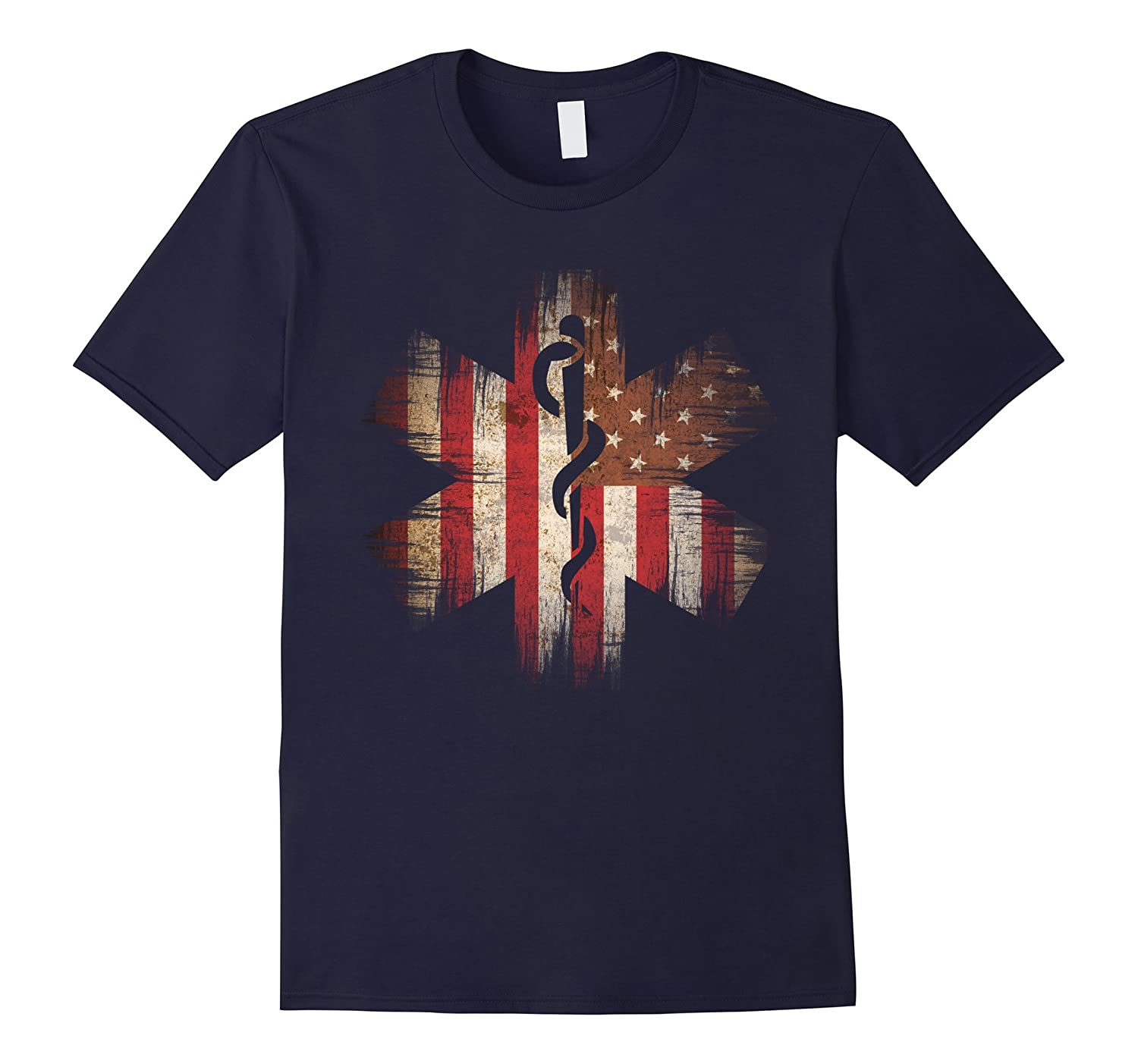 4th of July Paramedic USA Banner American Flag Tee shirt-TJ