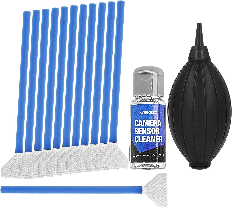 Cámara sensor de fotograma completo de limpieza microfibra paños de limpieza hisopo Kits Superfine