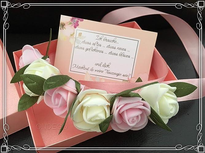 Blumen Schaumrosen Rosen Trauzeugin Brautjungfer Geschenk Fragen