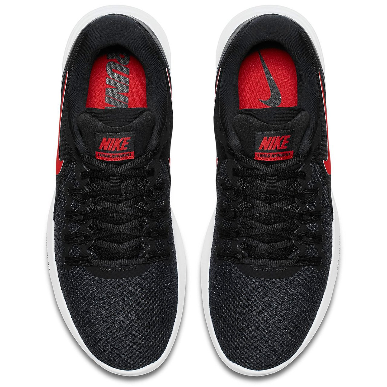 NIKE Lunar Apparent Mens Running Shoes B06WP57N68 10.5 D(M) US|Black Red Anthracite White