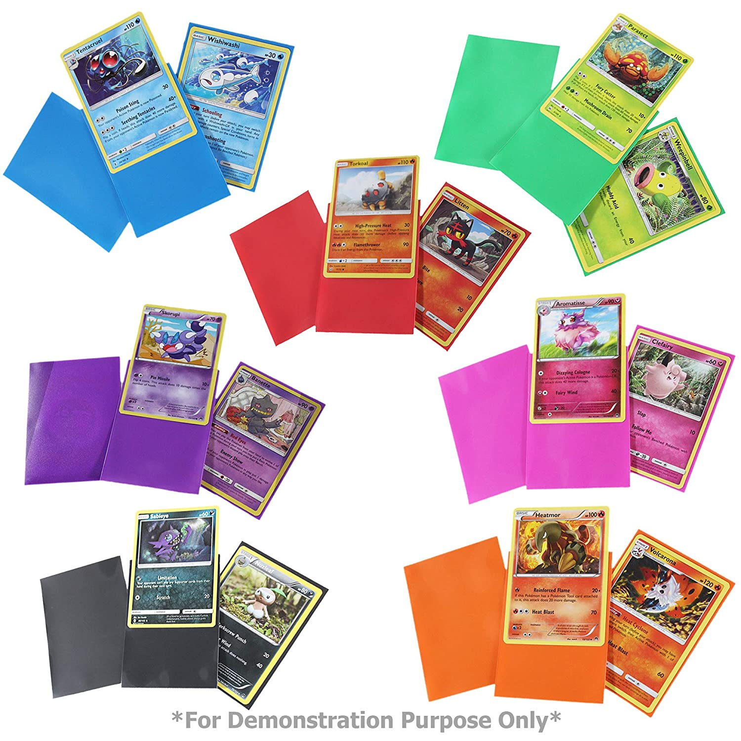 Card Case Deck Box and Figure 100 Sleeves Totem World Pokemon Premium Collection 100 Cards with GX Mega EX Shining Holo 10 Rares 4 Booster Pack