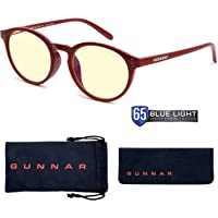 Gaming Glasses | Blue Light Blocking Glasses | Attache/Dark Red by Gunnar | 65% Blue Light Protection, 100% UV Light…