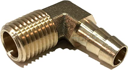 """5//16/"""" ID hose to 1//4/"""" male NPT Fuel hose fitting Brass Fitting"""