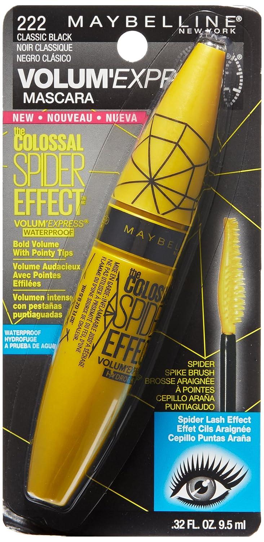 b05c444c8b1 Amazon.com : Maybelline Volum' Express Colossal Spider Effect Waterproof  Mascara, Classic Black, 0.32 fl. oz. : Beauty