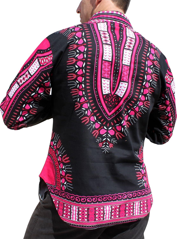RaanPahMuang Brand Africa Dashiki Boubou Bright Fashion Work Shirt Light Cotton