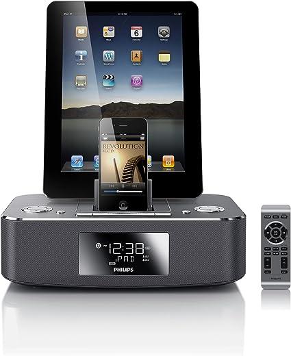 Philips DC39037 Radio portable Horloge Numérique Aluminium Radios portables (Horloge, Numérique, FM, Auto Store, 4 W, LCD)