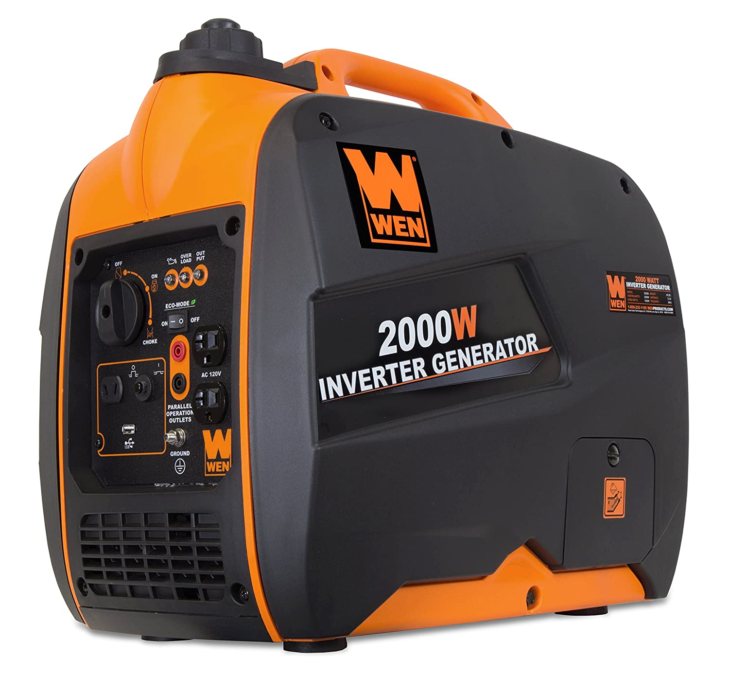 WEN 56200i, 1600 Running Watts/2000 Starting Watts, 4-Stroke Gas ...