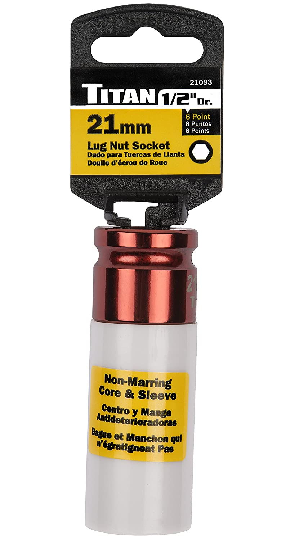 Titan Tools 21122 22mm 1//2 Drive Extra Long XL Lug Nut Socket