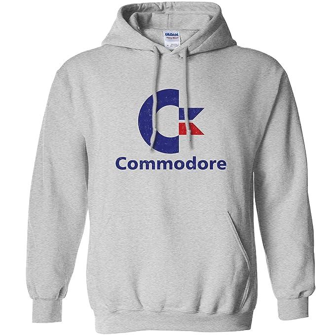 Mens Commodore Logo Hoodie, indigo or sport gray