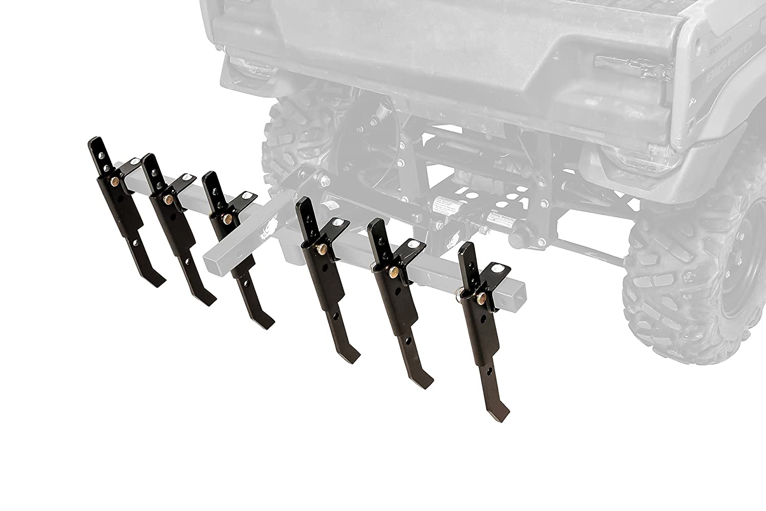 Black Boar ATV/UTV Plow Implement, Breaks Up Hard Ground w/6 Independently Adjustable Chisels, Use to Cultivate, Establish Food Plot, Maintain Land (66003)