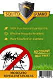 PREMIUM Mosquito Repellent Patches-100% All Natural-DEET Free Mosquito Repellent Patch-Kid Safe Mosquito Repellent Stickers-Effective Relief by Squito Guard (Green)