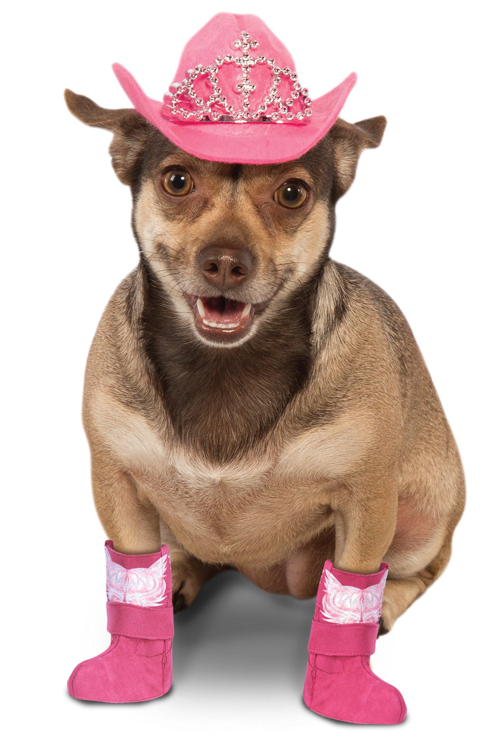 Rubie's Dog Costume Pink Cowgirl Boot Cuffs, M/L