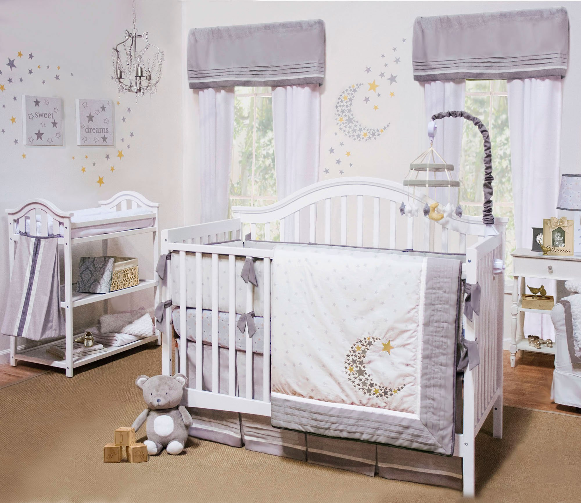 Nuit 4 Piece Baby Crib Bedding Set by Petite Tresor