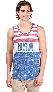 2c2646b44da940 Brooklyn Surf Men s USA American Flag Jersey Tank Top Sleeveless Tee Shirt