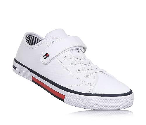 mejor sitio web e1cc7 6b1fe Tommy Hilfiger - Zapatos de Cordones para niño Blanco Size ...