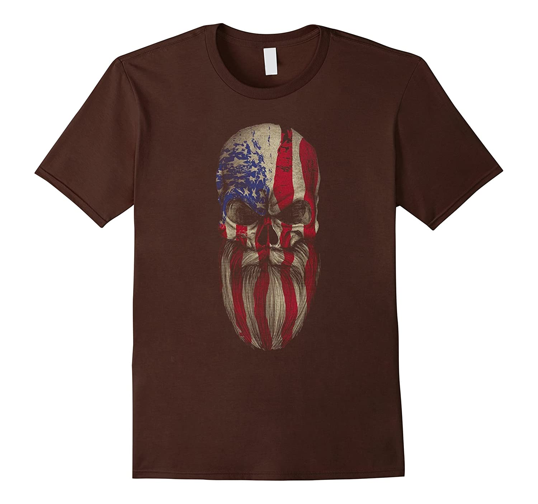 American Beard Skull T Shirt-BN