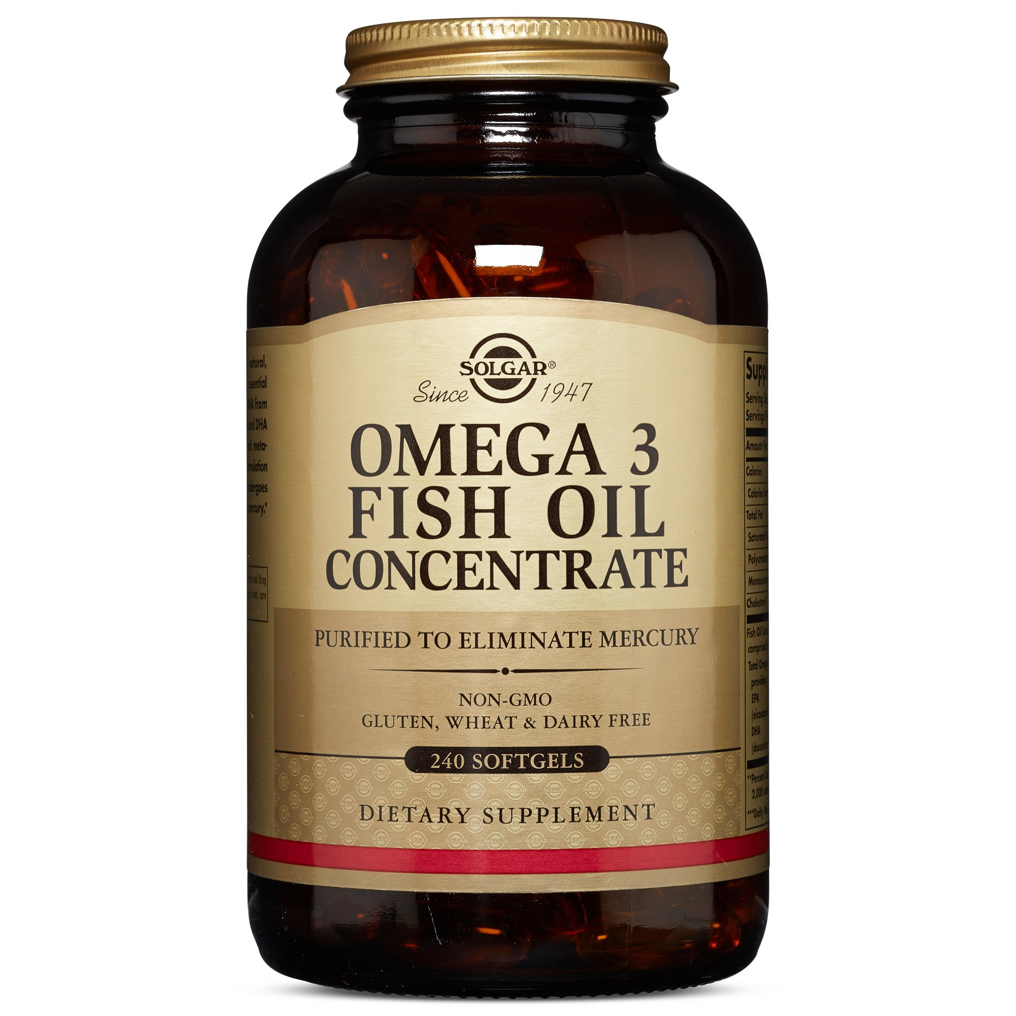 Solgar - Omega-3 Fish Oil Concentrate, 240 Softgels by Solgar