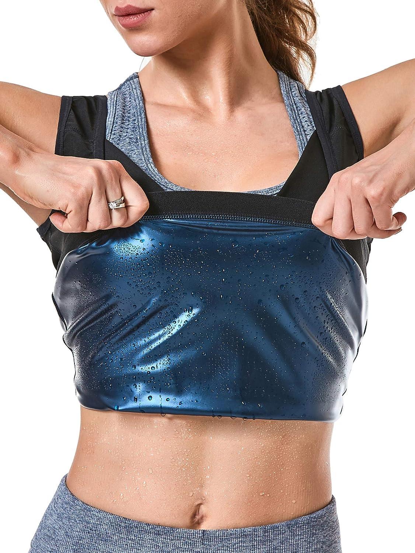 MOLLDAN Womens Sauna Vest Sweat Tank Top Shapewear Weight Loss Workout Shirt: Clothing