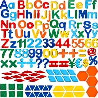 137 Pieces Magnetic Letters Numbers and Shapes Fridge Magnetic Phonics Letter Refrigerator Magnets Set for Ages Over 3…