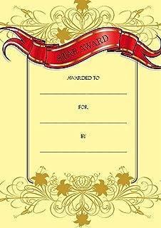 Certificate of Achievement Gold Filigree Portrait A5 Pack of 25