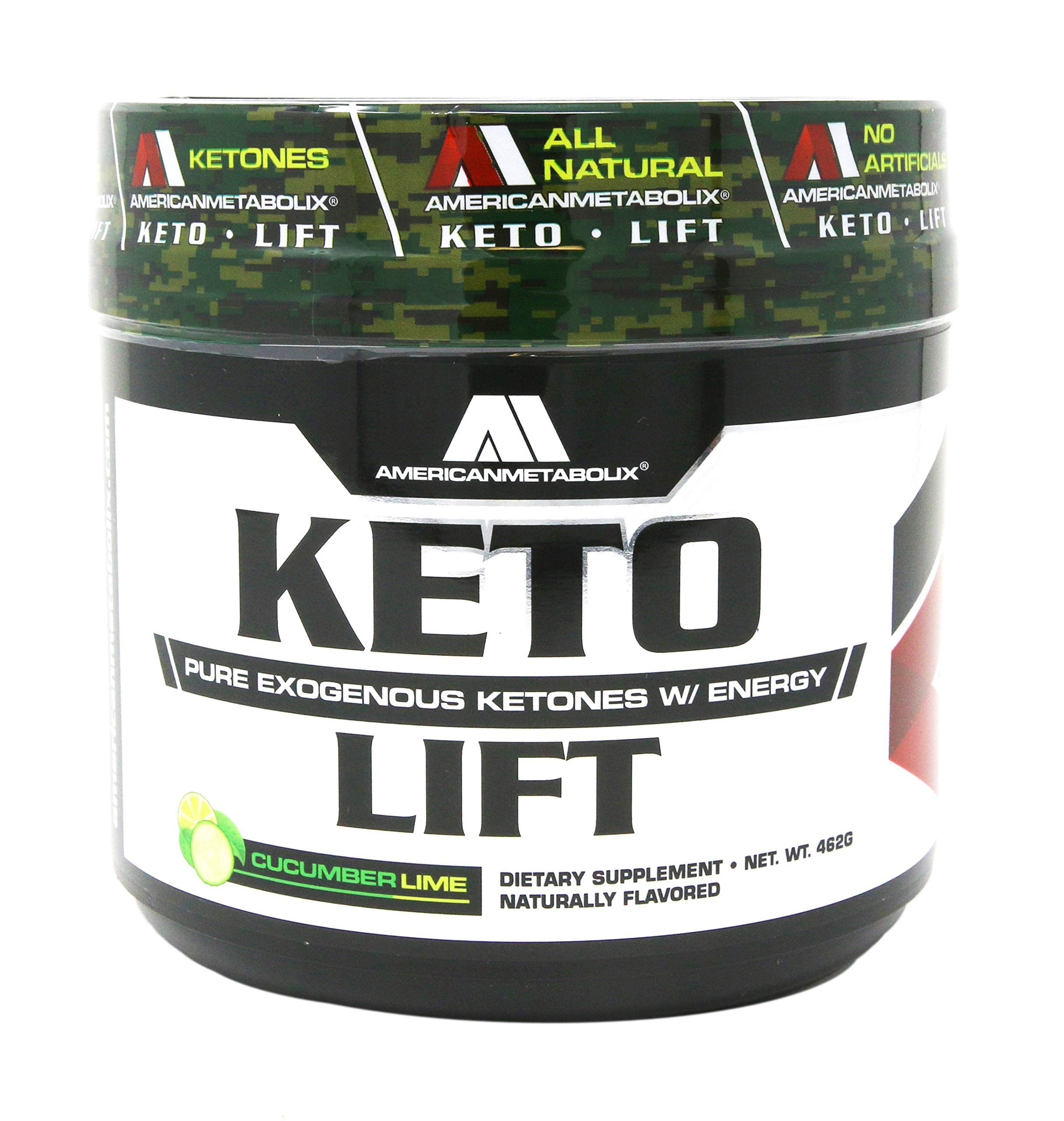 American Metabolix Keto Lift Bhb Salts Cucumber Lime, 462 g