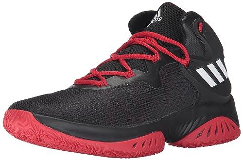 quality design bdcd5 de875 adidas Mens Explosive Bounce Basketball Shoes, Core BlackFootwear  WhiteScarlet, 7.5