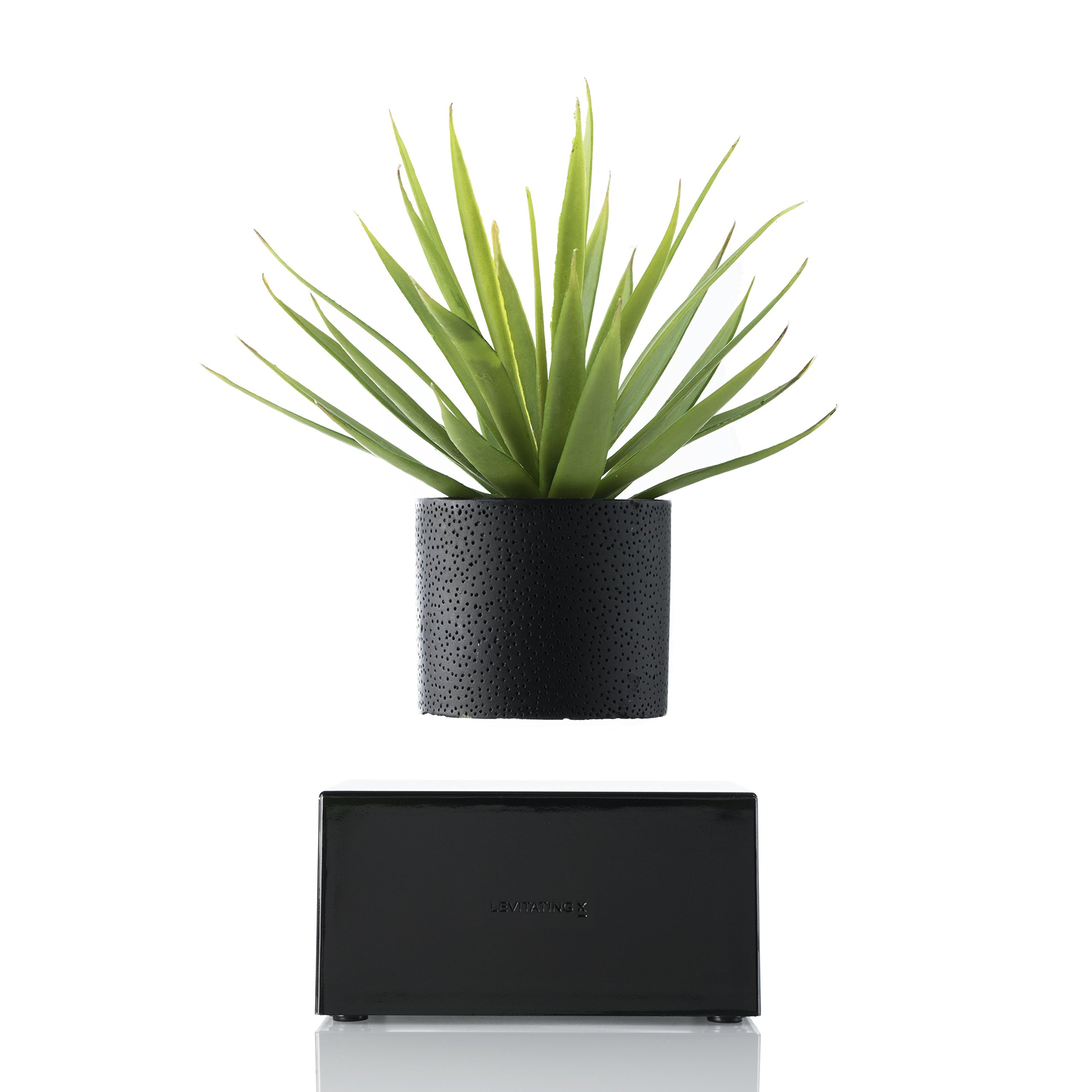 Levitating Plant Vase for Home Office Décor - Wireless Base by Levitating X