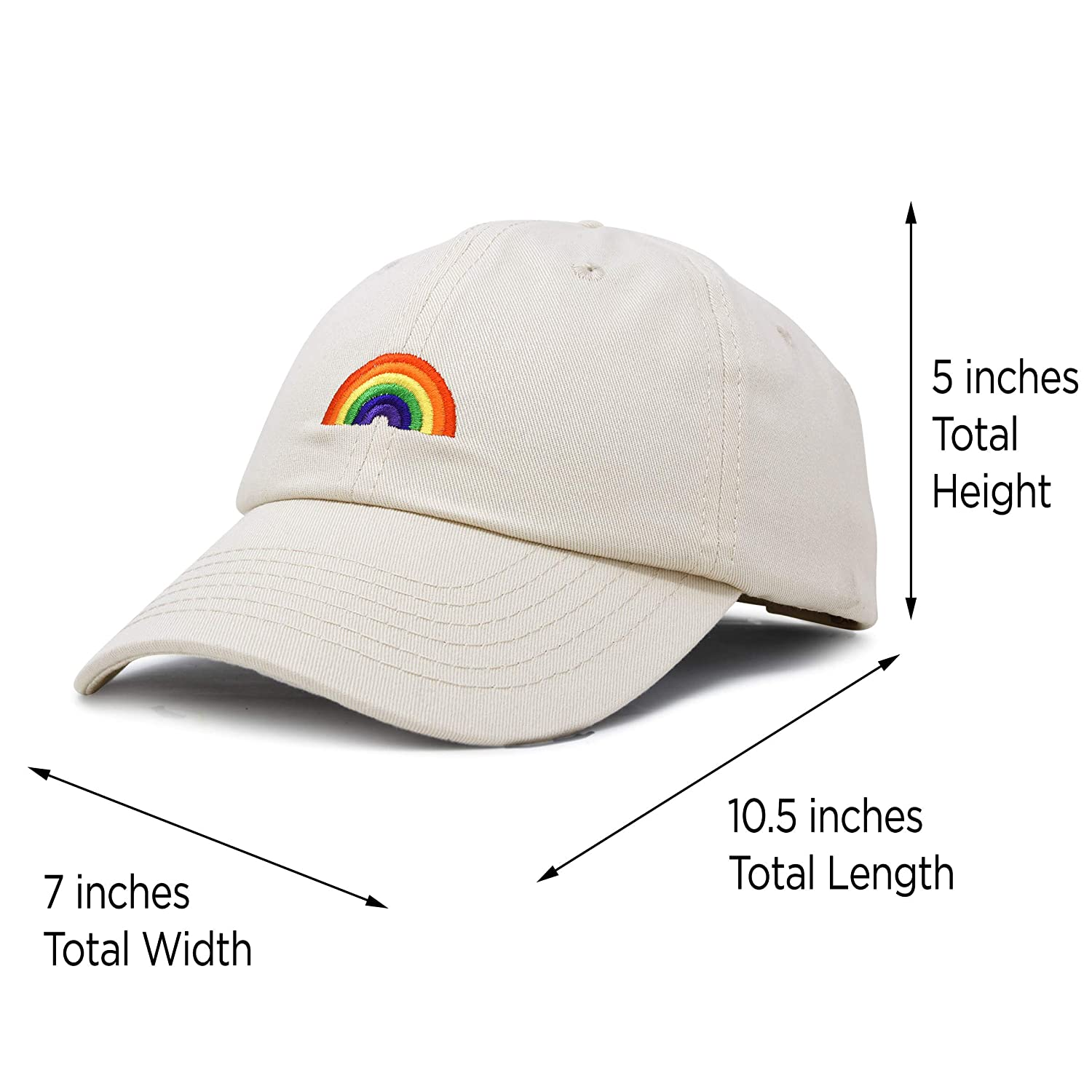 e9e220bdeab78 DALIX Rainbow Baseball Cap Womens Hats Cute Hat Soft Cotton Caps in Beige  at Amazon Women s Clothing store