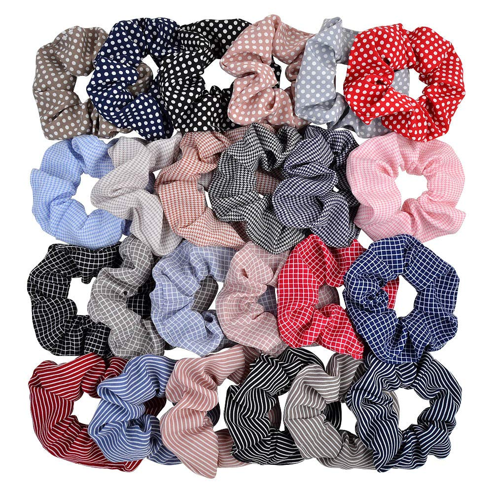 Set of 3 Hair Scrunchies Standard size Scrunchies Tango Hair Accessories Dance Hair Ties Red Black Polka Dot Scrunchies