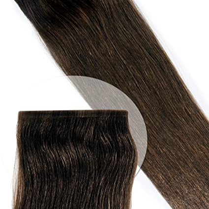 10 unidades. Seda pelo Deluxe Tape Extensions * 100% Ind ...