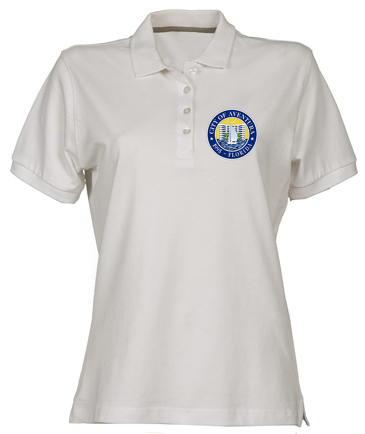 Polo para Mujer Blanco TM0030 City of Aventura Florida Citta ...
