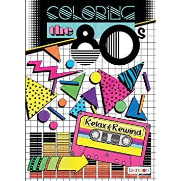 Bendon 16929 The 80\'s Advanced Coloring Book