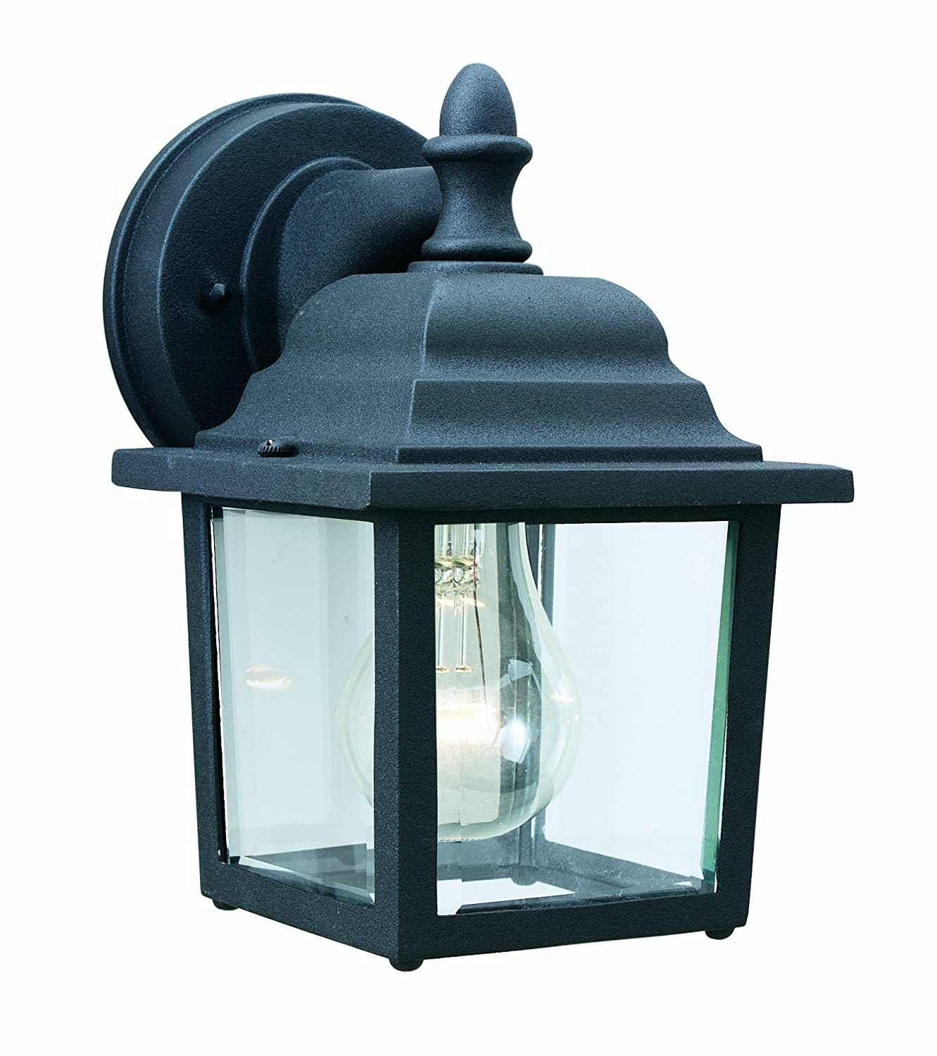 Thomas lighting sl9422 7 hawthorne one light outdoor wall lantern thomas lighting sl9422 7 hawthorne one light outdoor wall lantern matte black wall porch lights amazon aloadofball