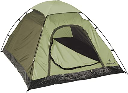 Stansport Hunter Series Hunter Buddy 2 Pole Dome Tent Forest Green Tan 5 Feet 6 Inch By 6 Feet 6 Inch By 44 Inch Amazon Ca Sports Outdoors