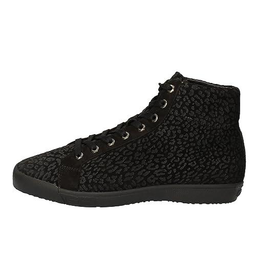 BIKKEMBERGS Sneakers Mujer Negro Gamuza AE449 (38 EU)