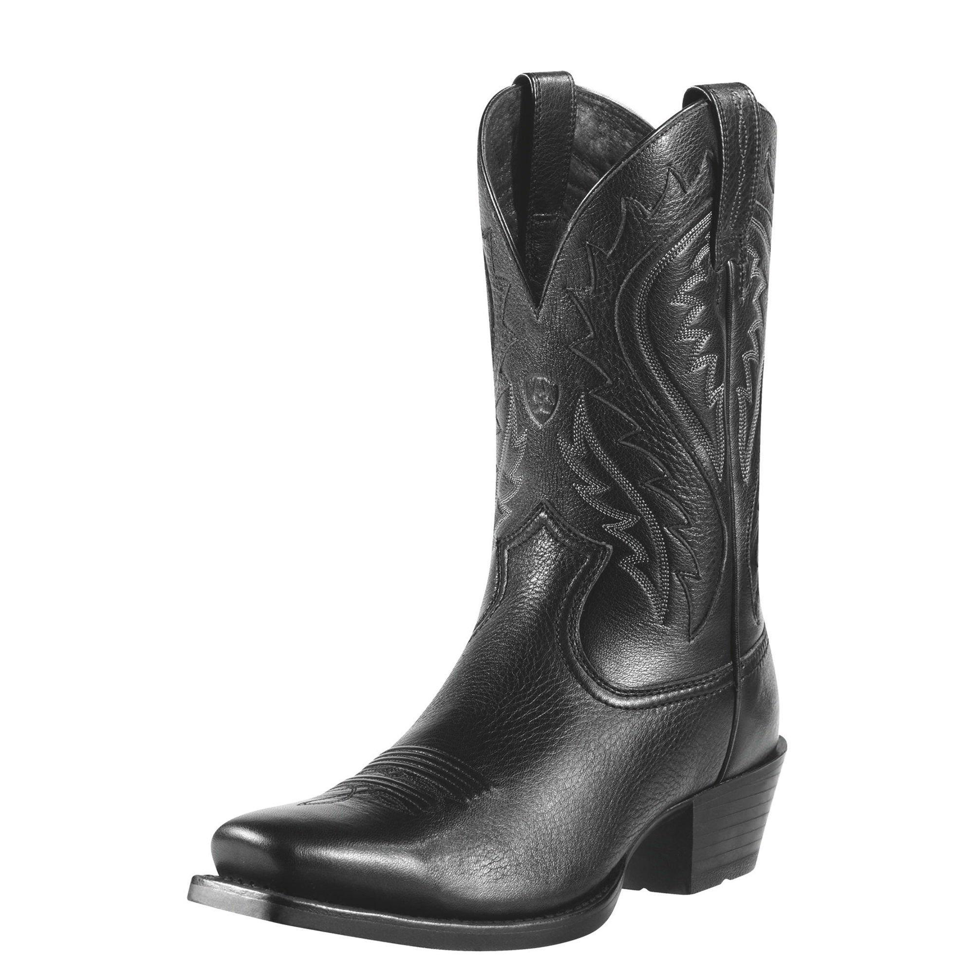 Ariat Men's Legend Phoenix Western Cowboy Boot, Black Deertan, 11 M US