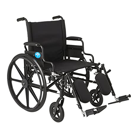 Medline Premium Ultra Lightweight Wheelchair With Flip Back Desk Arms And  Elevating Leg Rests
