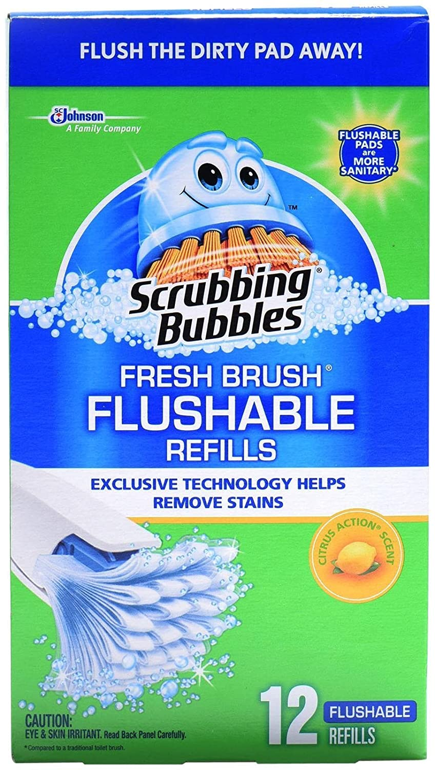 Scrubbing Bubbles 12 Fresh Brush Refill Boxed 25700711025