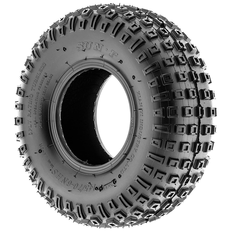 Amazon com sunf 145 70 6 145 70x6 atv utv all terrain trail replacement 6 pr tubeless tires a011 set of 2 automotive